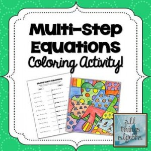 Multi-Step Equations St. Patrick's Day Coloring Activity