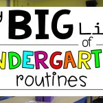 My Big List of Kindergarten Routines for a Gold Star Year!