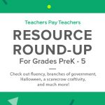 Resource Round-Up: Read & Roll Fluency, Branches of Government, Halloween, a Scarecrow Craftivity, and More!