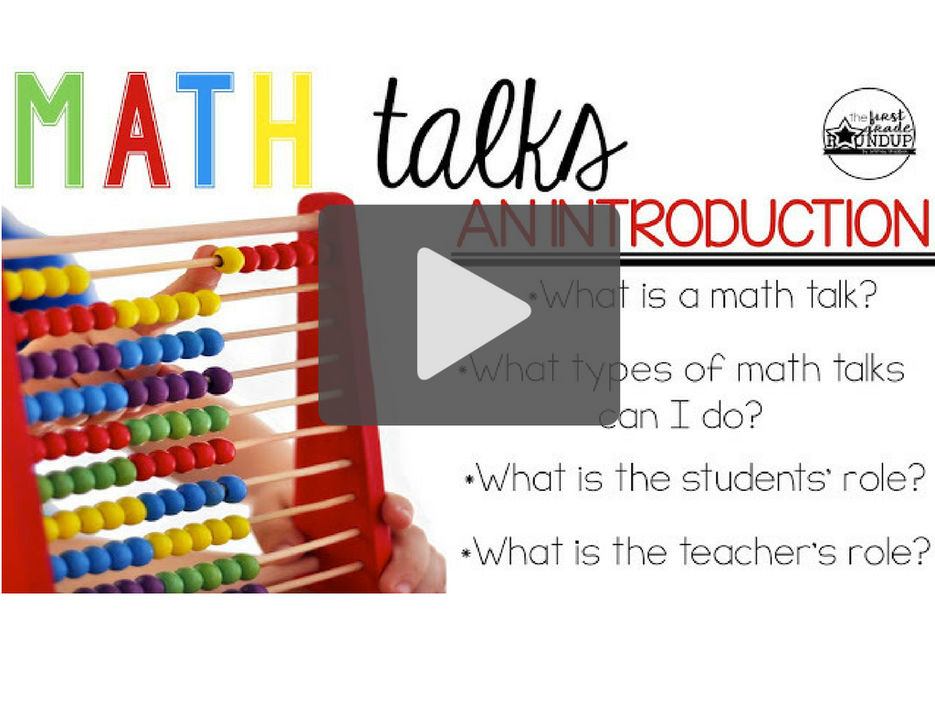 Math Talks are quick. 10 minutes or so in my 1st grade classroom. Yet, when I do a math talk, I address at least 5 of the 8 Standards for Math Practices.
