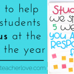 How to Help Refocus Your Students at the End of the Year