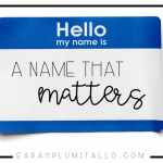 """""""My Name Matters"""": Here's a Challenge For You All"""