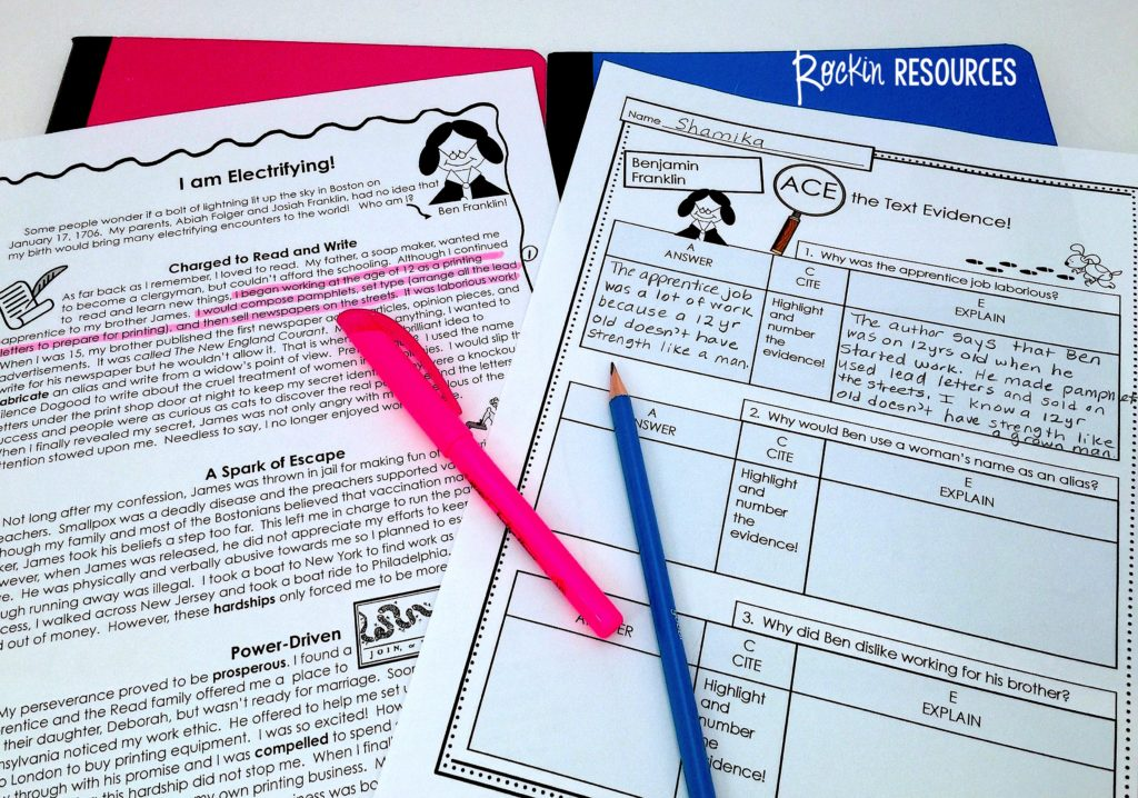 This step-by-step process scaffolds throughreading strategies to help your students be successful!